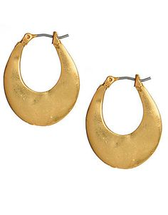 Gold-Tone Small Oval Hoop Earrings | Lord and Taylor