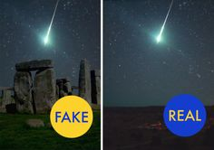The original photo does show a genuine  fireball meteor in 2008 -  over Oklahoma, USA,  NOT Stonehenge.