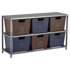 Signature Design by Ashley Metal Accents Accent Cabinet with Bins