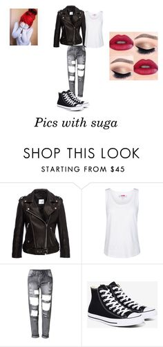 """BTS IMAGINES"" by emmi-princess ❤ liked on Polyvore featuring Anine Bing, adidas and Converse"