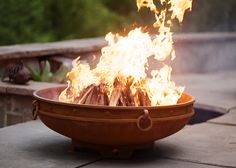 Emperor Steel Fire Pit by Fire Pit Art Fire Pit Art, Wood Fire Pit, Steel Fire Pit, Wood Burning Fire Pit, Diy Fire Pit, Outdoor Fire, Outdoor Decor, Outdoor Tvs, Outdoor Spaces