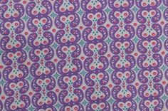 Vintage Cotton Fabric Remnant Purple Fabric by TheFabricScore