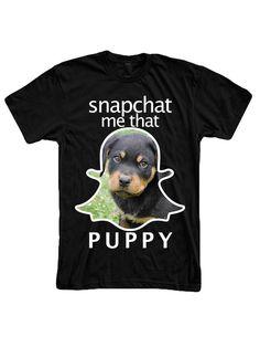 """Snapchat Me That Puppy"" Unisex T-Shirt"