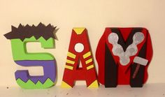 Avengers themed character letters www.facebook.com/missylissyletters