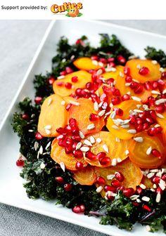 Roasted Beet Pomegranate Kale Salad