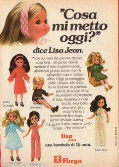 Pubblicità Advertising 1976 FURGA Lisa Jean - Cosa mi metto oggi?