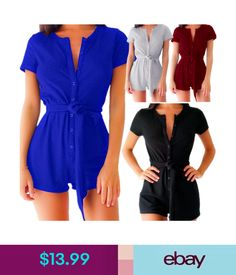 ab8c6e06a1  13.0 - Women Jumpsuit Playsuit Clubwear Bandage Bodycon Party Summer Romper  Trousers  ebay  Fashion