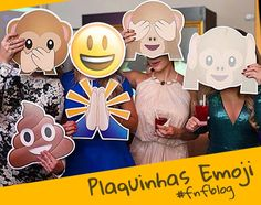 Preparados para bombar a sua festa? Com as plaquinhas emoji Whatsapp para imprimir do blog Fazendo a Nossa Festa você terá uma festa inesquecível