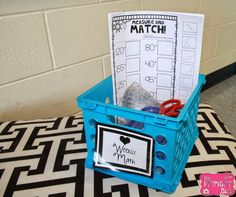 This is a GREAT set up for math centers!