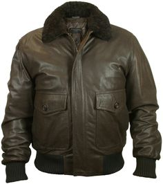Forzieri Men's Dark Brown Chevrette Two-Pocket Jacket w/Fur Collar on shopstyle.co.uk