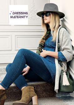 Shoppez cet incontournable jean de  grossesse qui fuselle les jambes et met  en valeur la femme enceinte. Mariez-le à une tunique trendy et à un joli  gilet ... a984e7eef9b