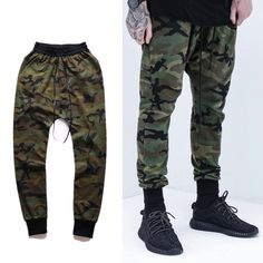 c010a31387f Cool Men Camouflage Trousers Men s Casual Pants Beam High Street Hip hop  Kanye West Justin Bieber Harem Pants-in Harem Pants from Men s Clothing ...