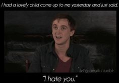 xD Tom Felton on his character of Draco Malfoy in Harry Potter. Harry Potter World, Harry Potter Jokes, Harry Potter Cast, Harry Potter Fandom, Funny Harry Potter Pics, Harry Potter Interviews, Harry Potter Imagines, Tom Felton, Must Be A Weasley