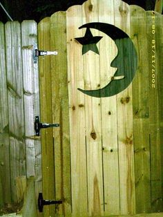 Decorative Moon Privacy Fence Gate