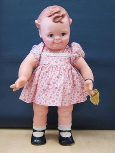 """Kewpie Rose O'Neill Cameo Scootles 15"""" VINTAGE Doll Pink Dress with TAG"""