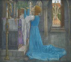 Isabella and the Pot of Basil: Edward Reginald Frampton (1872-1923)