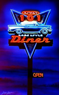 50s diner, neon more pins under www.gimo.de