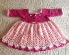 Crochet Dress 3-6 Months PATTERN por JeansNeedles en Etsy