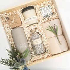 Custom birthday gift box from Loved and Found. Curated gift box for her. Bridesmaid gift #giftsforher