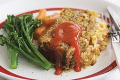 A crunchy topping will make this simple meatloaf a family favourite.