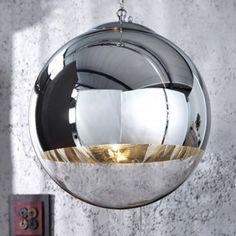 JUPITER XL - design pendant light glass ball chrome plating lamp lighting fixture by Neofurn Lamp, Ceiling Lights, Ball Lights, Pendant Light Design, Pendant Light, Light, Hallway Designs, Glass, Glass Ball