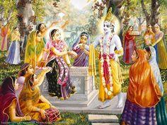 Krishna with Gopis and Radha