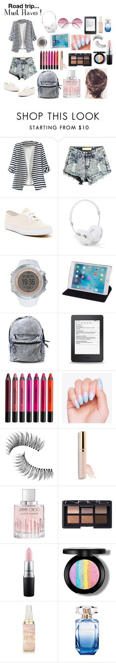 """C'mon let's hit the Road"" by potternerdjiya on Polyvore featuring WithChic, Keds, Frends, Suunto, Urban Decay, Trish McEvoy, Jimmy Choo, NARS Cosmetics, MAC Cosmetics and Elie Saab"