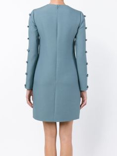 Valentino платье с бантами на рукавах