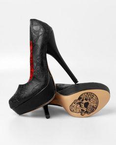 Iron Fist Manslayer Black Platform Heels