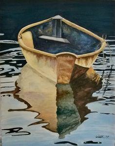 Suluboya kayık resmim. Watercolor