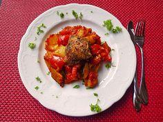 Pollo fino aus dem Ofen, ein sehr schönes Rezept aus der Kategorie Schmoren…