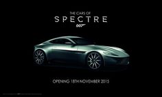 Bond in Motion is to present a new display, The Cars of SPECTRE, at the London Film Museum in Covent Garden from 18 Nov. Aston Martin Db10, 007 Spectre, London Films, Character Costumes, James Bond, Rolls Royce, Cars, Planes, Trains
