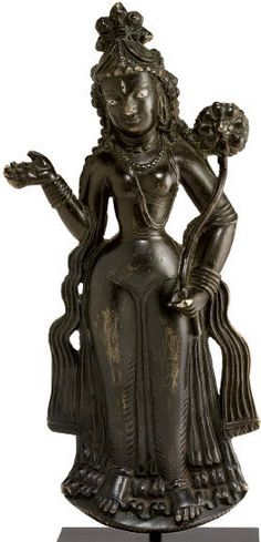 Tara, 7th century, Swat Valley, bronze plaque, silver-inlaid eyes, 19,6 cm, private collection