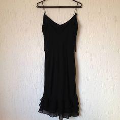 Vestido Preto Seda Básico - 969782 | enjoei :p