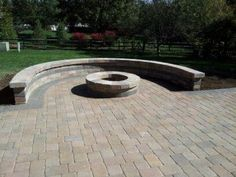 This Paver Patio Includes A Custom Fire Pit For The Ultimate In Patio  Indulgence On Those