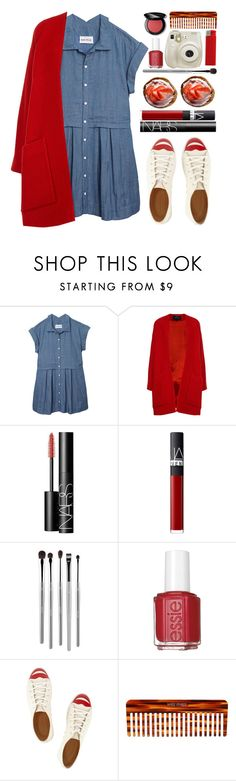 """""""#889 Annick"""" by blueberrylexie ❤ liked on Polyvore featuring Olive + Oak, Derek Lam, NARS Cosmetics, esum, Essie, Charlotte Olympia, Fuji, Mason Pearson and Bobbi Brown Cosmetics"""