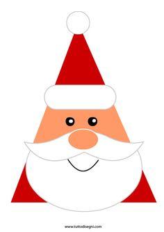 Christmas Santa Face Printable Coloring Pages