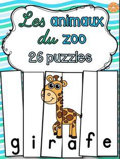 26 casses-tête amusants sur le thème des animaux du zoo.