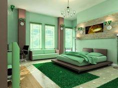 Los dormitorios en color verde menta son la última tendencia en decoración de interiores. Por eso, si está buscando darle un toque de frescura a su dormitorio matrimonial  eche un vistazo a las estupendas ideas de decoración de habitaciones en color menta a través de fotos de dormitorios decorados con paredes, muebles y accesorios mentas.