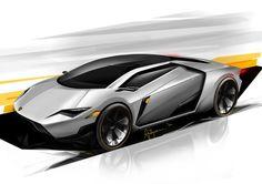 Lamborghini Leon - Sketch Concept by Ardhyaska Amy, via Behance