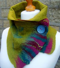 Felted scarf wool felted scarf felt scarf merino by Beautifulfelts