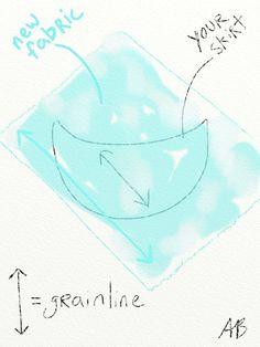 Tutorial for the #AdultBeginner article on making your own ballet skirt! #balletskirt #DIY #sewing