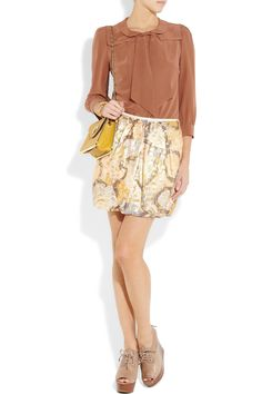 silk crepe de chine blouse from see by chloe, $222