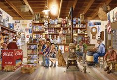 Eurographics Jigsaw Puzzle The General Store 2000 Pieces 2000 Piece Puzzle, Puzzle Pieces, Daisy Books, Buffalo Brand, Scarecrow Festival, Gettysburg National Military Park, Old Gas Stations, Puzzle Art, Buffalo Games