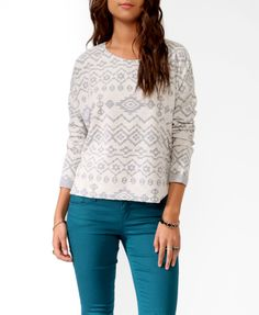 Southwest Pattern Top   FOREVER21