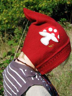 Autumn toadstool wool pixie hat by Heart Felt