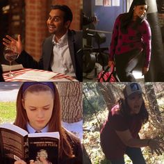 Me in a nutshell. I'm on TV! Playing along...happy Friday!  #threefictionalcharacters #tomhaverford #parksandrec #mindylahiri #themindyproject #goodintentions #rorygilmore #gilmoregirls #reader