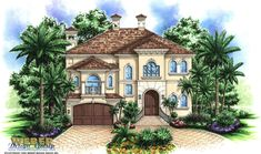 California House Plan: Coastal Home Floor Plan for Narrow Lot
