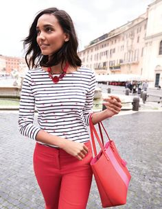 You asked and we listened. This classic Breton not only comes in new eye-catching prints but we've also made it a smidge longer – so it's an even better fit than before. The boat neck and longer sleeves make it a great transitional piece too.