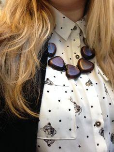 #heart #wood #dotty #spotty #leopard #statementnecklace statement necklace heart wood dotty spotty leopard